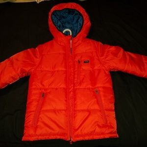 OshKosh B'gosh orange fluffy jacket